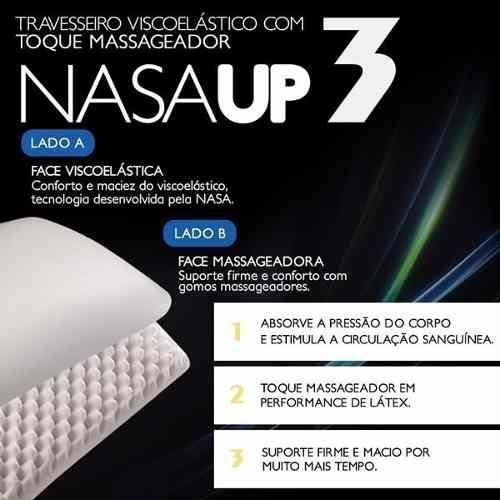 Travesseiro Nasa up Com Toque Massageador