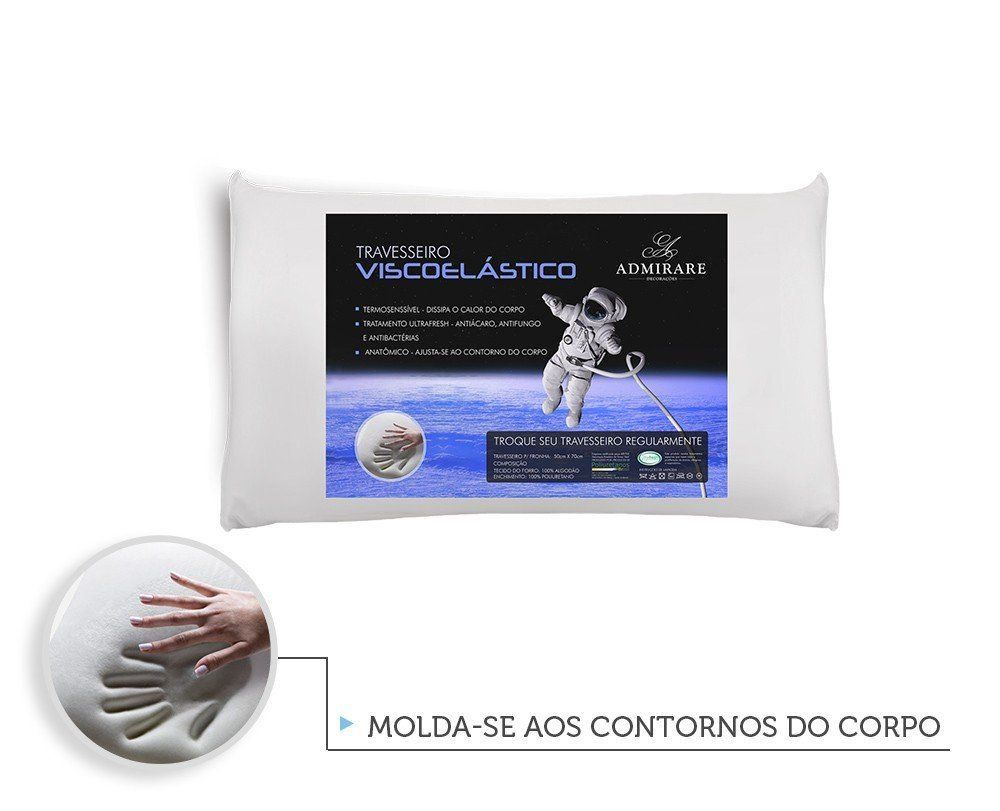 Travesseiro Antialergico Viscoelastico Nasa | Admirare