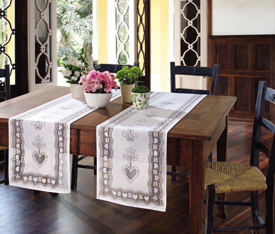 Trilho de mesa de Crochê Lace 35 x 170 cm   Lepper