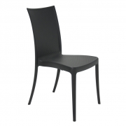 Cadeira Em Polipropileno Laura Rattan 88x44,5x55,5cm Tramontina - Preto