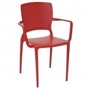 Cadeira em Polipropileno Safira 83,5x58x42cm Tramontina - Vermelha