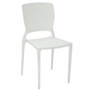 Cadeira em Polipropileno Safira 84,5x43x52cm Tramontina - Branca