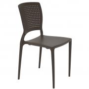 Cadeira Em Polipropileno Safira Summa 84,5x44x52,5cm Tramontina - Marrom