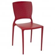 Cadeira em Polipropileno Safira Summa 84x43x52cm Tramontina - Vermelha