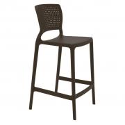 Cadeira Em Polipropileno Safira Summa 94x44,5x47,5cm Tramontina - Marrom