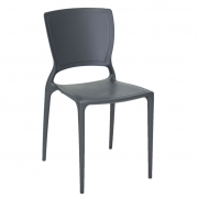 Cadeira em Polipropileno Sofia 82,5x45,5x53cm Tramontina - Grafite