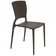 Cadeira Em Polipropileno Sofia Summa 82,5x45,5x53cm Tramontina - Marrom