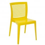 Cadeira em Polipropileno Victoria 83,5x48,5x54,9cm Tramontina - Amarela