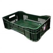 Caixa Plástica Vazada 25L Verde Mercoplasa