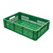 Caixa Plástica Vazada 26L Verde Mercoplasa