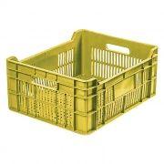 Caixa Plástica Vazada 33L Amarelo Mercoplasa