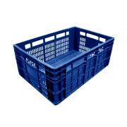 Caixa Plástica Vazada 45,5L Azul Mercoplasa