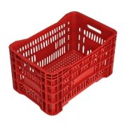 Caixa 45,5lt p/ uso geral vermelha a24 x l40 x c60cm mercoplasa ms-24 ref.10613