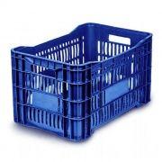 Caixa Plástica Vazada 46L Azul Mercoplasa