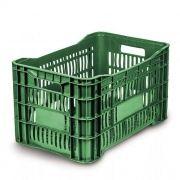 Caixa Plástica Vazada 46L Verde Mercoplasa