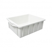 Caixa Plástica Fechada 15,5L Branco JSN - 14,5x43,5x34cm