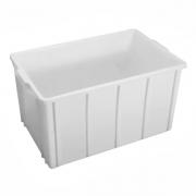 Caixa Plástica Fechada 61L Branco JSN - 32,5x62x38,5cm