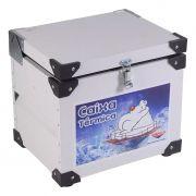 Caixa termica c/ revestimento interno em inox    64lt cefaz mod cti-75