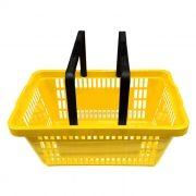 Cesta de compras p/ supermercado della plast amarela ref. 3000.01