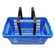 Cesta de compras p/ supermercado della plast azul ref. 3000.07