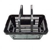 Cesta de compras p/ supermercado della plast preta ref. 3000.19