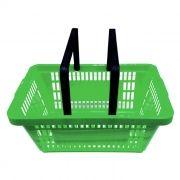Cesta de compras p/ supermercado della plast verde ref. 3000.17