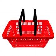 Cesta de compras p/ supermercado della plast vermelha ref. 3000.13