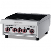 Char Broiler à Gás 4 Queimadores Chb 60 Metalcubas
