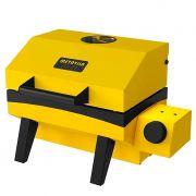 Churrasqueira a gas esmaltada portatil metavila 30x33x23cm amarelo mod.gs300ea