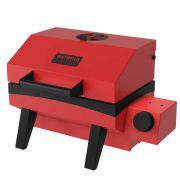 Churrasqueira a gas esmaltada portatil metavila 30x33x23cm vermelho mod.gs300ev