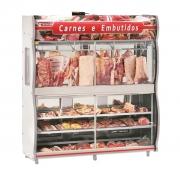 Expositor De Carne Refrimate 2,00m Cinza EAST 2000 - 220v