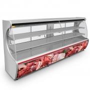 Expositor De Carne Refrimate 2,00m Inox/Vermelho EANSTDP-2000 - 220V