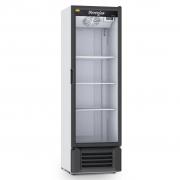 Expositor Refrigerado de Bebidas Vertical Refrimate Branco/Preto 400L - 220V