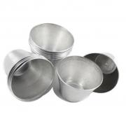 Forminha Pudim Alumínio 4,4x3,3x2cm - 12 Unidades