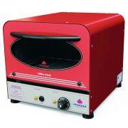 Forno eletrico c/gratin.progas 127v vermelho litle chef mod.prpe-200 ref 37791
