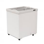 Freezer horizontal comerc. 176lts 127v esmaltec  2t vidro reto mod. af200