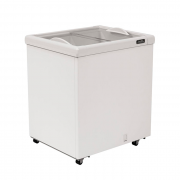 Freezer horizontal comerc. esmaltec 176lt 127v 2t vidro reto mod. af200