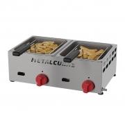 Fritadeira à Gás 6L Inox Com 2 Cestos FRCG-6 BP Metalcubas