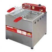 Fritador eletrico oleo e agua 13lts 2 cestos 127v progas mesa mod. pr-100e 3039