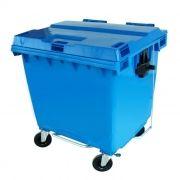 Lixeira Contêiner 1000L De Plástico Injetado Com Rodas - Azul