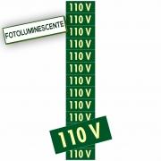 Placa 110v PS74 (1,5x3,6cm) - 13 Unidades Verde