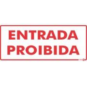 Placa Entrada Proibida PS151 (13x30cm)