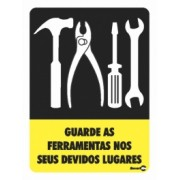 Placa Guarde As Ferramentas PS71 (20x15cm)