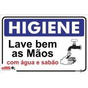Placa Higiene/Lavar Bem As Mãos PS484 (30x20cm)