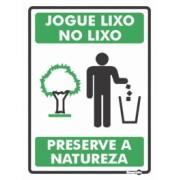 Placa Jogue Lixo, No LIxo! PS639 (20x15cm)