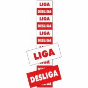 Placa Liga/Desliga PS117 (1,5x3,6cm) - 12 Unidades