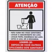 Placa Não Suba No Vaso PS102 (20x15cm)