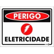 Placa Perigo Eletricidade PS127 (20x15cm)