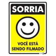 Placa Sorria! Você Está Sendo Filmado PS91 (20x15cm)