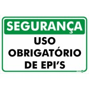Placa Uso Obrigatório De EPI PR1025 (30x20cm)
